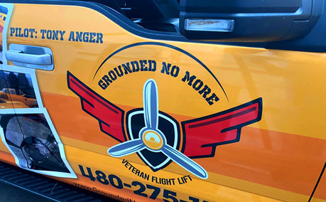 AZGP-Vehicle Decals Truck Veteran Flight