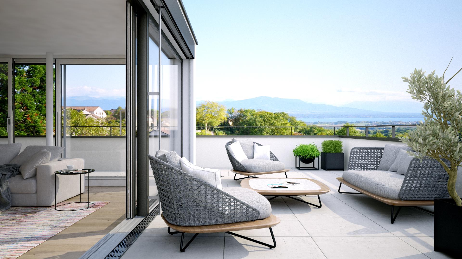 Vue terrasse villa B