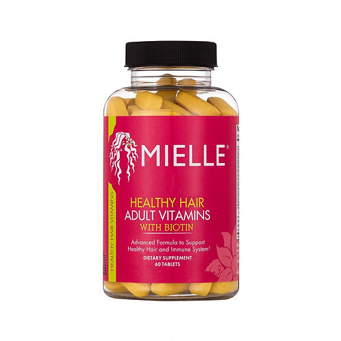 Adult Healthy Hair Formula Vitamins with Biotin 60 Tablets by Mielle Organics