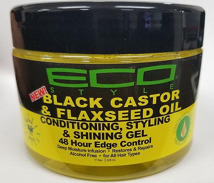 Eco Style Black Castor Oil & Flaxseed Oil 48 Hour Edge Control | 11 oz