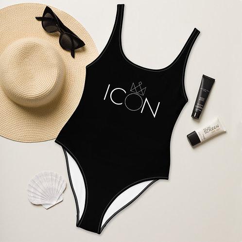ICON One-Piece Swimsuit (White Logo)