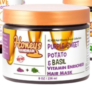 4C Her Hair Vitamin Boost Collection, Purple Sweet Potato & Basil Vitamin Enrich