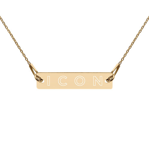 ICON Engraved Chain Necklace