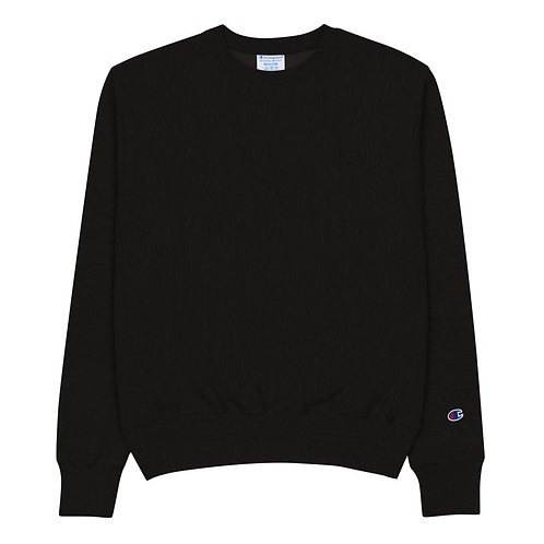 ICON MAN Embroidered Champion Sweatshirt - Black Out Edition