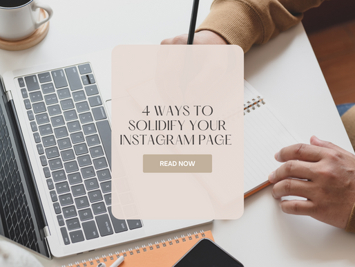 4 Ways To Solidify Your Instagram Page