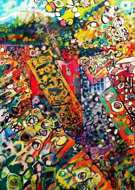 "3. ""untitled"" acrylic on canvas, 36""x 24""  2015"