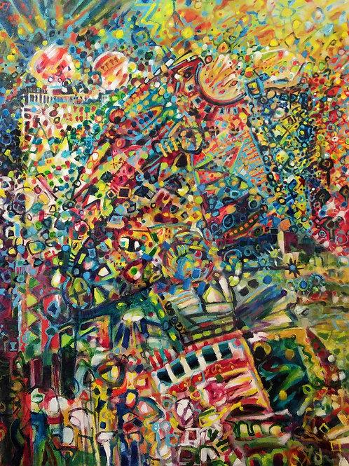"10. ""Rite of Passage"" acrylic on canvas, 40"" x 30""  2015"
