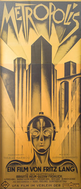 anonymous, Metropolis,lithograph, 83 x 3