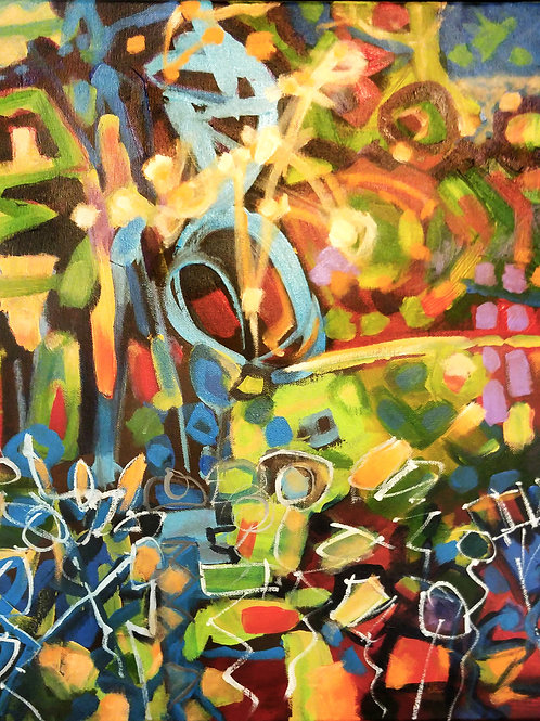 "5. ""untitled"" acrylic on canvas 20"" x 16""  2016"