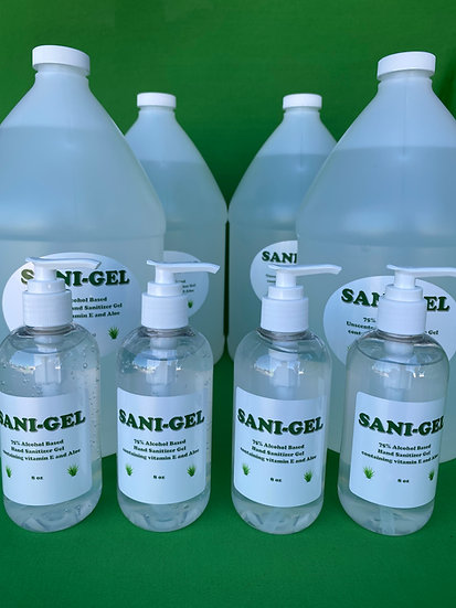 Business Pack of Sani-Gel 4 gallons with four 8 oz. pumps