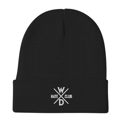 Hate Club Embroidered Beanie