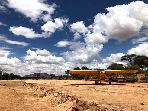 Airplane in Kenya
