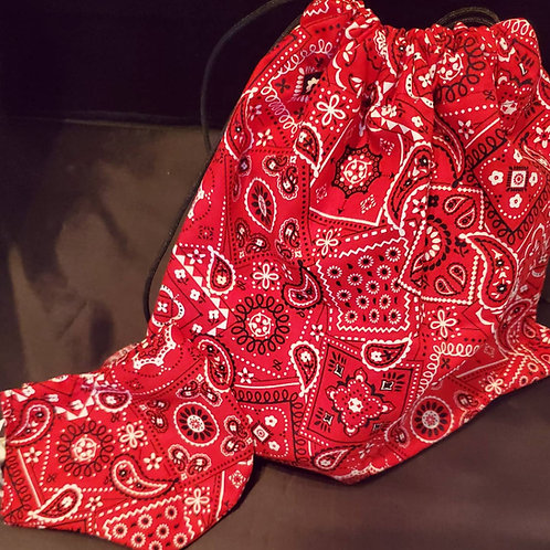 Bandana Drawstring Bag and Mask Set