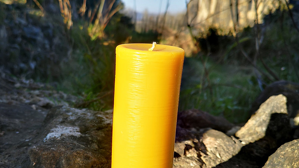 Rustic Pillar Candle