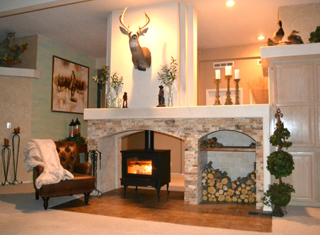 Mountain Home Fireplace Remodel