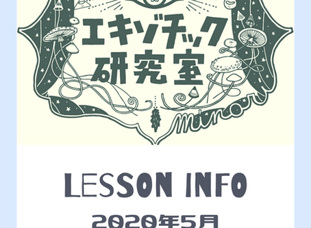 Lesson info  - May -