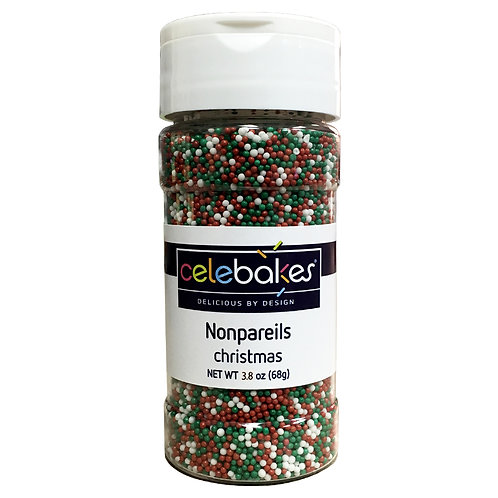 Celebakes Christmas Nonpareils Christmas Sprinkles Christmas Baking