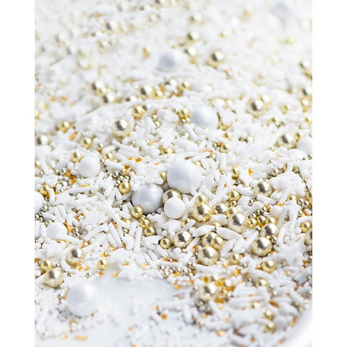 Sweetapolita FROSTED 1/2 CUP, 8 OZ BOTTLE WEDDING SPRINKLES, CAKE SPRINKLES, WHITE SPRINKLES, GOLD SPRINKLES, SPRINKLE MIX