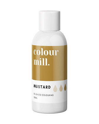 Mustard Colour Mill Oil Based Colouring 100ml, Mustard Colour Mill, New Colour Mill, Colour Mill, Mustard Chocolate coloring
