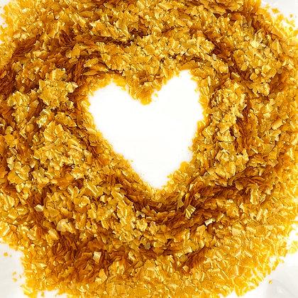 Metallic Gold EDIBLE Glitter Flakes, .25oz.