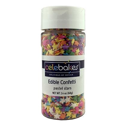 Celebakes Pastel Stars Edible Confetti