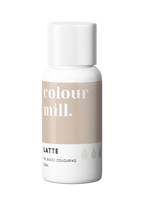 Latte Colour Mill Oil Based Colouring, Latte Colour Mill, Colour Mill, Latte chocolate coloring, oil based food colouring