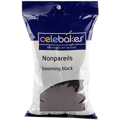black nonpareils, nonpareils, black sprinkles, celebakes black nonpareils, halloween sprinkles