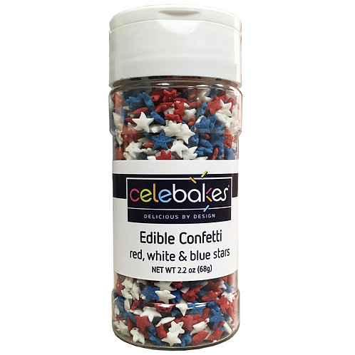 Celebakes Mini Red, White & Blue Stars, 4 oz. (1/2 cup)