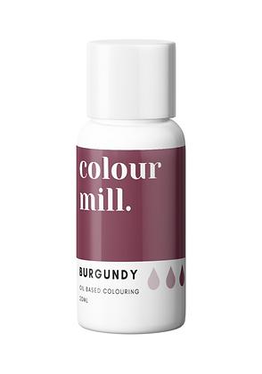 Burgundy Oil Based Colouring colour mill, burgundy colour mill, colour mill, burgundy chocolate coloring