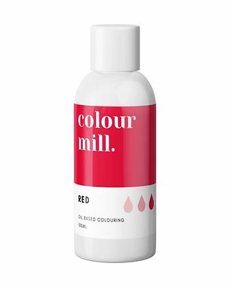 red colour mill, red colour mill oil based colouring, colour mill, red colour mill 10ml, colour mill 100ml