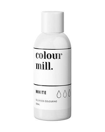 white colour mill, white colour mill oil based colouring, white colour mill 100ml, colour mill 100ml
