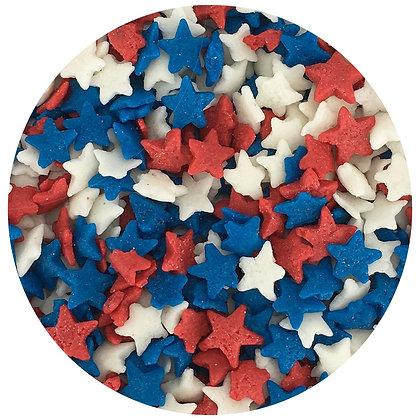 Celebakes Patriotic Stars Edible Confetti, 2.2 oz., (1/2 cup)