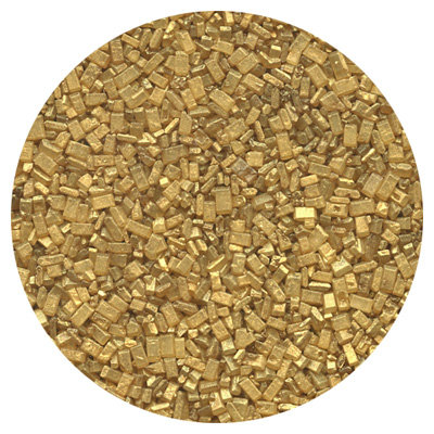 CK Products Pearlized Gold Sugar Crystals, 4 oz. (1/2 cup)