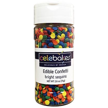 Celebakes Bright Edible Sequins, 4 oz. (1/2 cup)