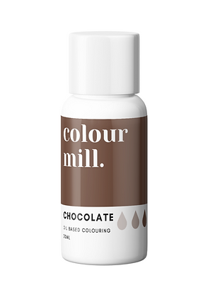 chocolate colour mill, chocolate colour mill oil based colouring, chocolate colour mill 20ml, chocolate oil coloring