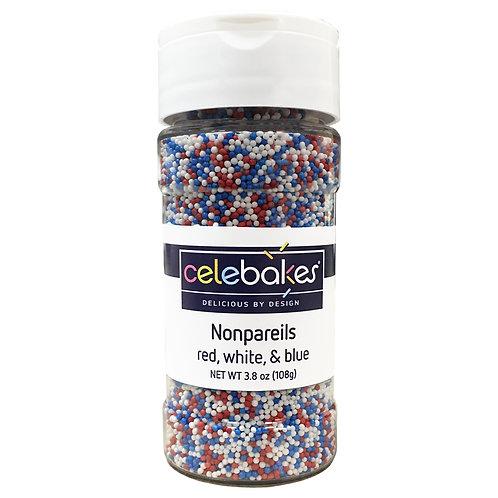 Celebakes Patriotic Mix Nonpareils, 4oz. (1/2 cup)