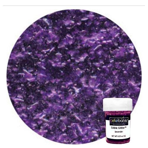 Celebakes Lavender EDIBLE Glitter Flakes, .25 oz.