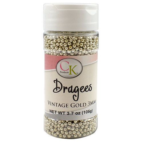 CK Products Vintage Gold 3mm Dragees