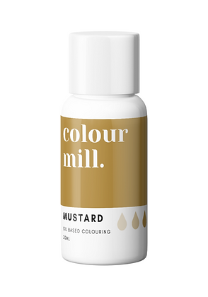 Mustard Colour Mill Oil Based Colouring 20ml, New Colour Mill, Colour Mill, Mustard Colour Mill, mustard chocolate coloring