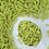 Sweetapolita GREEN APPLE Matte Sugar Rods, green sprinkles, green dragees