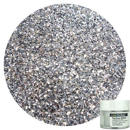 Celebakes American Silver Techno Glitter