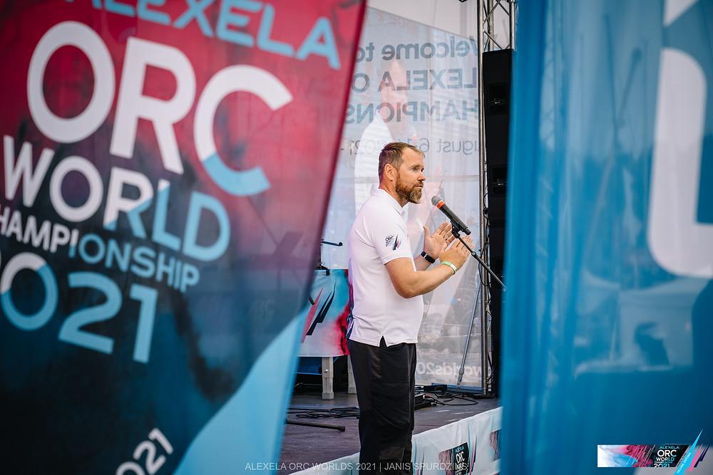 Marti Hääl, the Vice President of Alexela Group - Opening Ceremony © Alexela ORC Worlds 2021 / ZGN