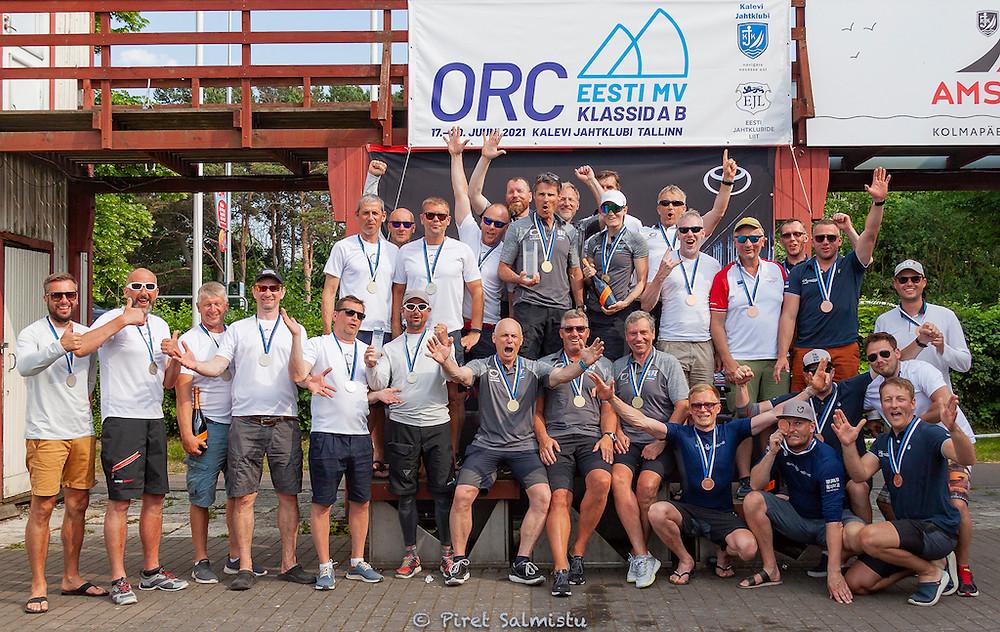 Class A podium - ORC Estonian Championship 2021 - © Piret Salmistu