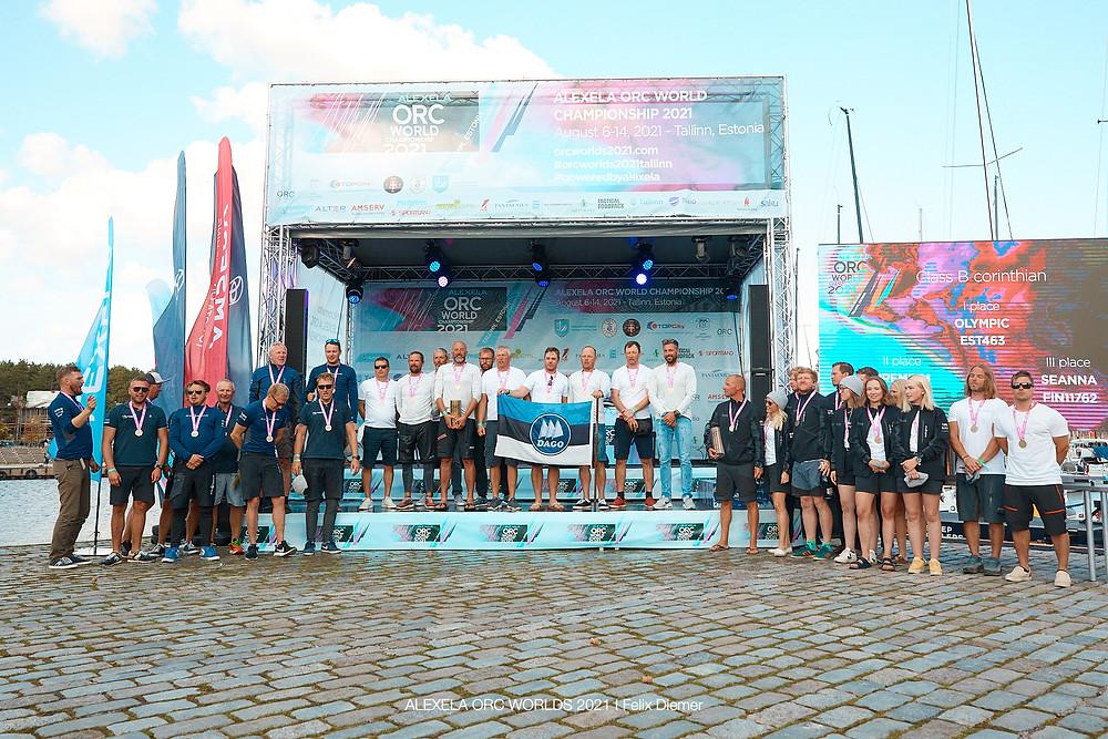 B klassi Corinthian arvestuse esikolmik © Alexelaa ORC Worlds 2021 | Felix Diemer
