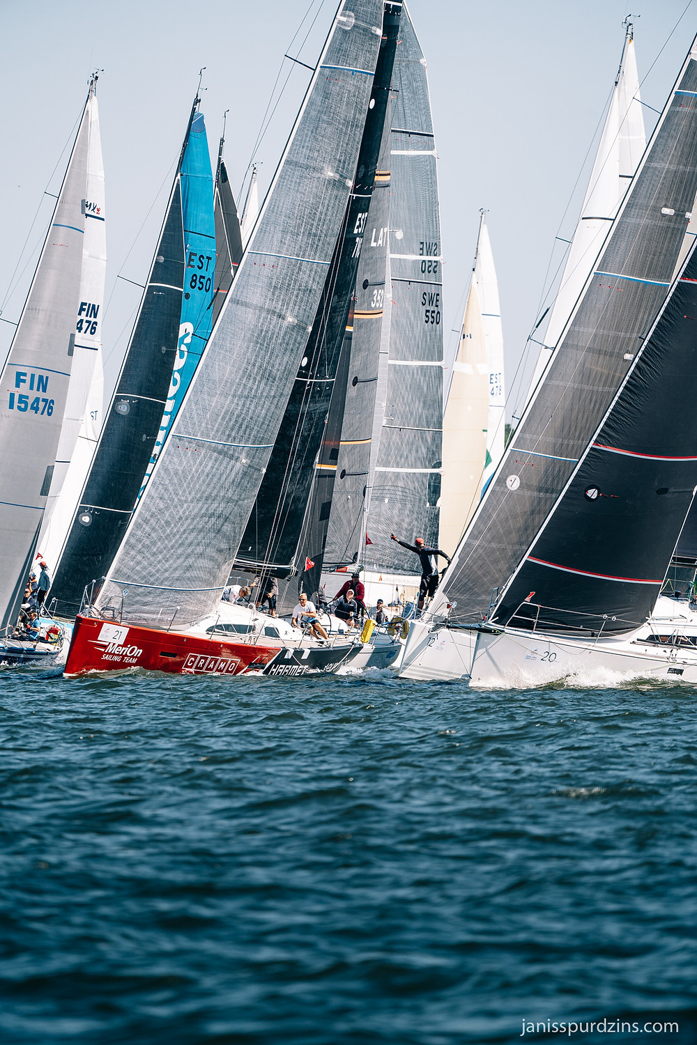 Close starting line at the Moonsund Regatta 2020 – the oldest and biggest offshore regatta of Estonia - photo © Janis Spurdzins
