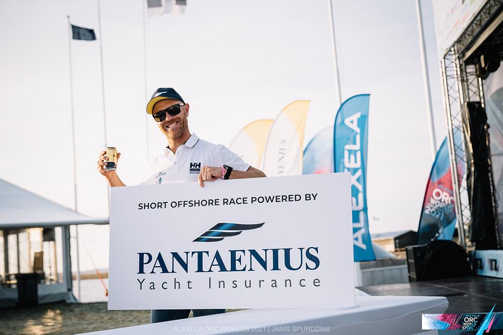 Michał Korneszczuk - representative of Pantaenius Poland, Official Insurance Partner & Day Sponsor of Short Offshore Race © Alexela ORC Worlds 2021   Janis Spurdzins