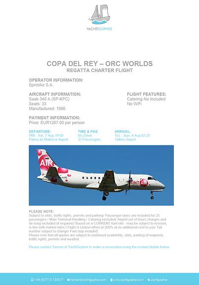 Palma-Tallinn Charter Flight Offer