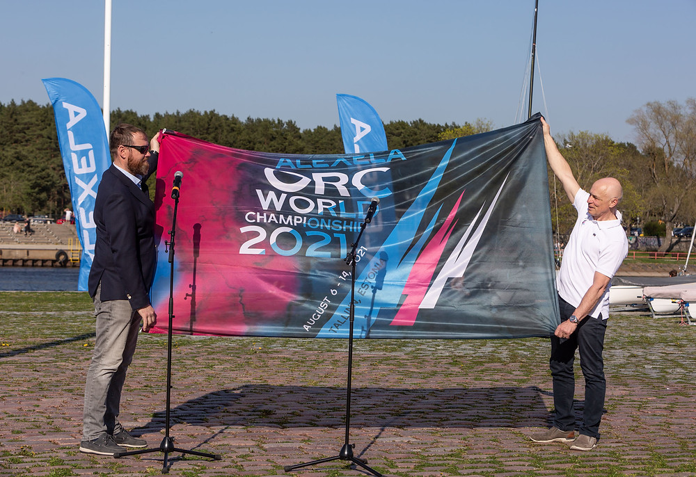 The Vice-President of the Alexela Group, Marti Hääl and the commodore of the Kalev Yacht Club and president of the Estonian Yachting Union, Kalev Vapper - photo © Gerli Tooming / Alexela ORC Worlds 2021