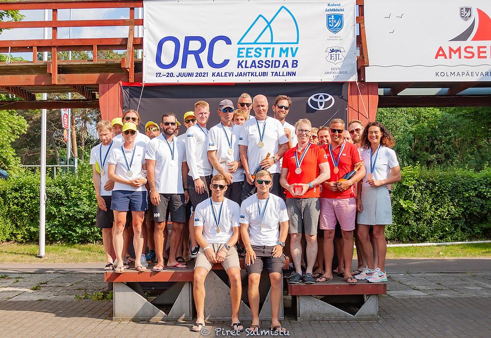 Class B podium - ORC Estonian Championship 2021 - © Piret Salmistu