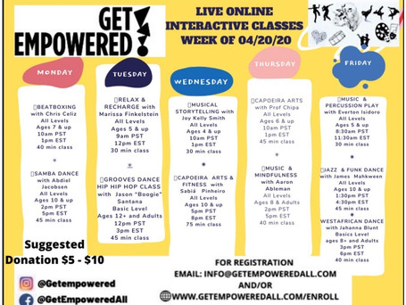 Get Empowered Online Classes - FREE w/ suggested donations